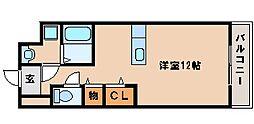 JR山陽本線 西明石駅 バス13分 出合橋下車 徒歩3分の賃貸マンション 1階ワンルームの間取り