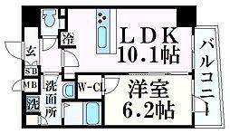 JR東海道・山陽本線 神戸駅 徒歩6分の賃貸マンション 15階1LDKの間取り