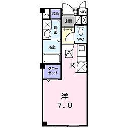 アヴィタシオン K[2階]の間取り