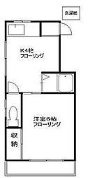 愛泉荘[2階]の間取り