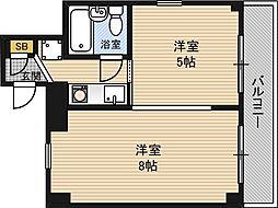 百合第二マンション[2階]の間取り