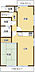 間取り,2LDK,面積51.02m2,価格1,080万円,JR常磐線 水戸駅 徒歩34分,,茨城県水戸市新荘1丁目4-12