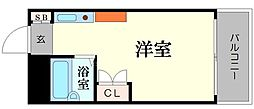大国町池田マンション[8階]の間取り