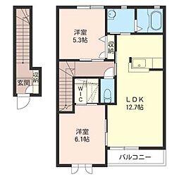 ロンサール A[2階]の間取り