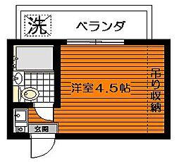 太子堂第一コーポ[2階]の間取り