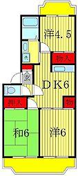 栗ヶ沢21[2階]の間取り