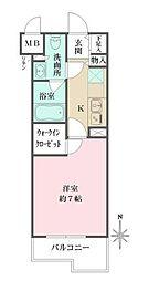 小田急小田原線 梅ヶ丘駅 徒歩5分の賃貸マンション 3階1Kの間取り