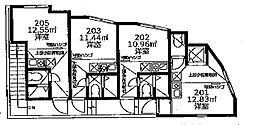 ユナイト 船越アンドリアノフ[2階]の間取り