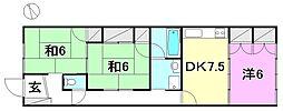 [一戸建] 愛媛県伊予市米湊 の賃貸【/】の間取り