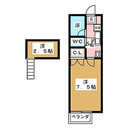 N・Sコーポ[2階]の間取り