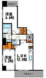 ルキシア薬院[1302号室]の間取り