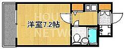 DETOM-1衣笠[207号室号室]の間取り