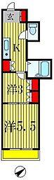 第二石井ビル[6階]の間取り