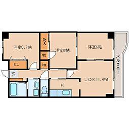 JR東海道本線 静岡駅 バス22分 秋山町下車 徒歩7分の賃貸マンション 2階3LDKの間取り