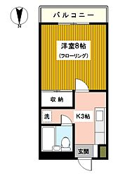 神奈川県川崎市幸区南幸町3丁目の賃貸マンションの間取り
