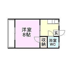 釘宮コーポ[2階]の間取り
