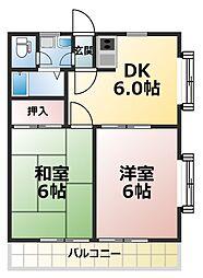 愛媛県松山市北梅本町の賃貸マンションの間取り