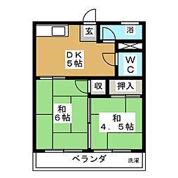ニューコーポ矢野[1階]の間取り