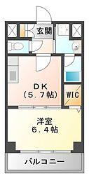 ベルデュール楓[2階]の間取り