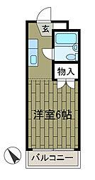 サンビレッヂ町田[1階]の間取り