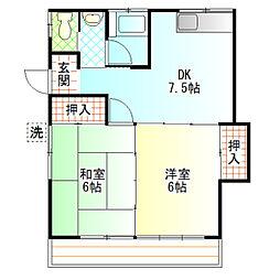 内田アパート[101号室]の間取り