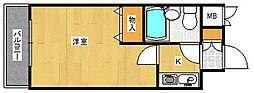 大阪府大阪市西成区岸里2丁目の賃貸マンションの間取り