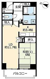 URベイサイド本牧[3-106号室]の間取り