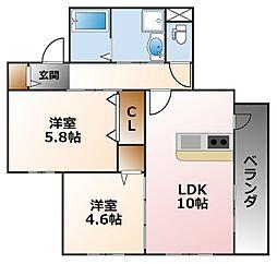 (仮称)小松町マンション[2階]の間取り