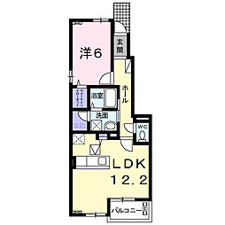 大阪府堺市西区浜寺船尾町西3丁の賃貸アパートの間取り
