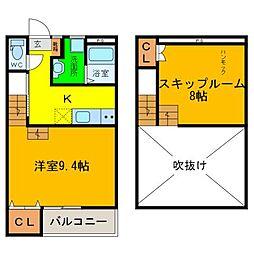 SKIP NARUTO[101号室]の間取り