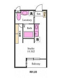 新築パディーII[2階]の間取り