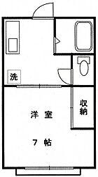埼玉県川越市霞ケ関東5丁目の賃貸アパートの間取り