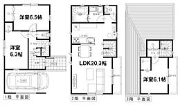 延91.21m2、建物価格1854万円