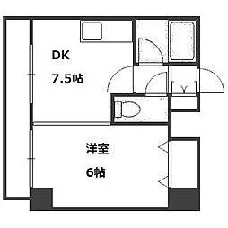 コスモス東札幌[2階]の間取り
