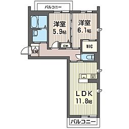 PRADO[3階]の間取り