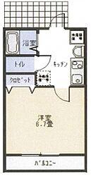 リブハピネス横浜V[1階]の間取り
