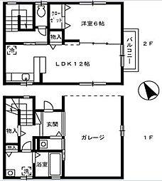 [テラスハウス] 広島県福山市多治米町2丁目 の賃貸【/】の間取り