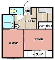 江頭ビル[2階]の間取り