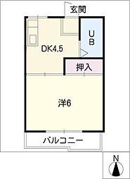 フォーブルグリーンB[2階]の間取り