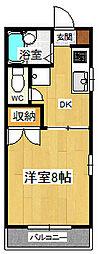 シングルハイツ濱口3[101号室]の間取り