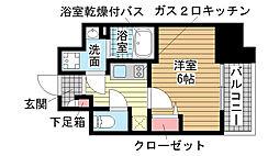 兵庫県神戸市中央区磯上通6丁目の賃貸マンションの間取り