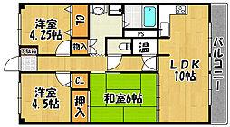 兵庫県神戸市西区宮下3の賃貸マンションの間取り