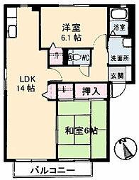 シャルマン高須 B棟--[201号室]の間取り