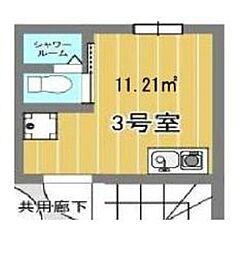エスアールNIPPORI 4階ワンルームの間取り