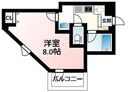 JR東海道・山陽本線 新大阪駅 徒歩9分の賃貸マンション 3階1Kの間取り