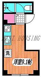 JR山手線 新宿駅 徒歩5分の賃貸マンション 4階ワンルームの間取り