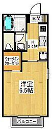 カーサベルデIII[2階]の間取り