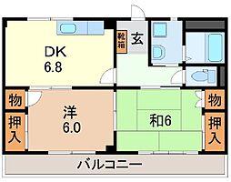 静岡県駿東郡清水町新宿の賃貸アパートの間取り