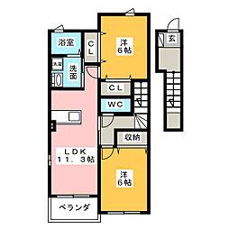 シーフロント[2階]の間取り