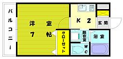 イデアハイツ2[1階]の間取り